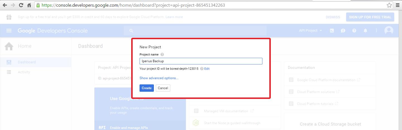 Como habilitar a api do google drive e obter credenciais create a project stopboris Image collections
