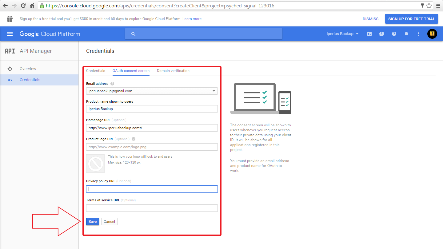 how to configure google drive