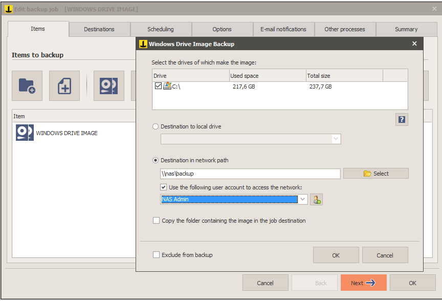 System Image Backup (Drive Image) with Iperius