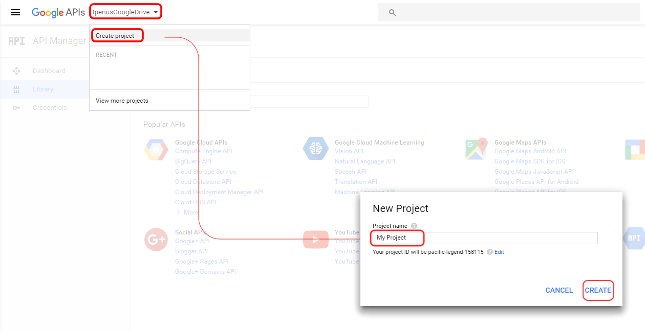 How to enable google drive api and get client credentials create a project ccuart Images