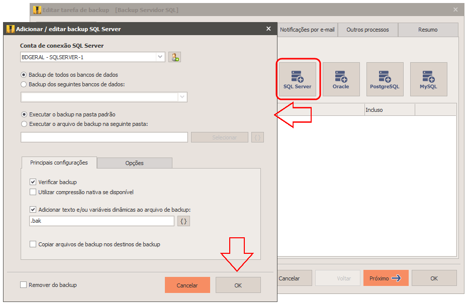 Backup do sql server com iperius - Porta sql server ...