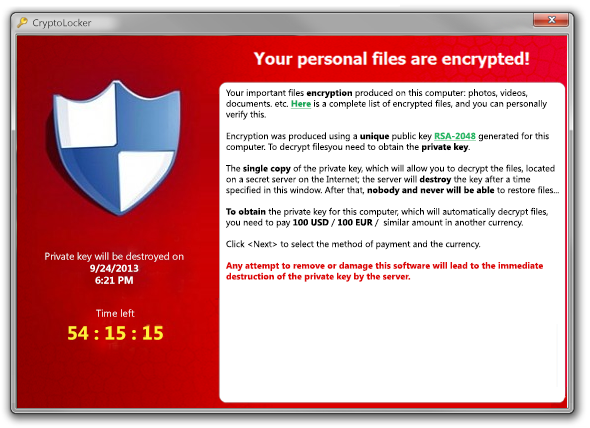 Cryptolocker and other ransonware: How to protect against