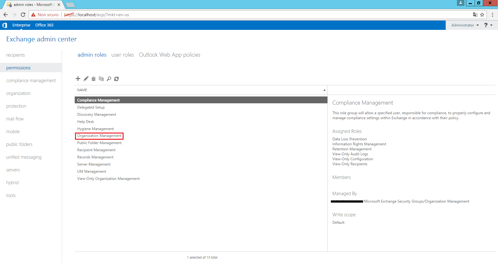 Exchange permissions for mailbox backup (export) and restore - How