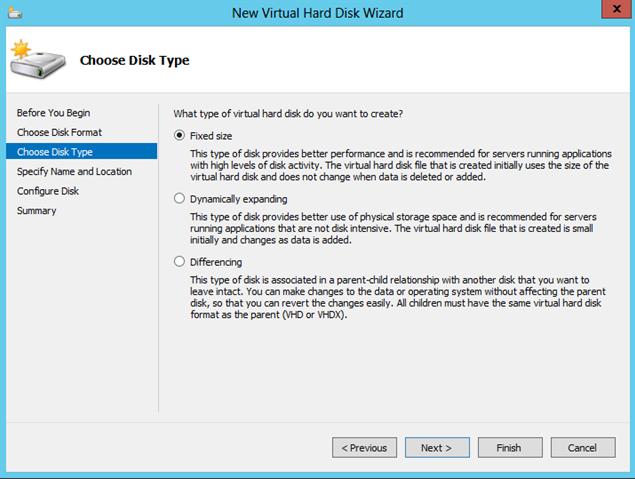 VHD Types for Hyper-V Virtual Machine