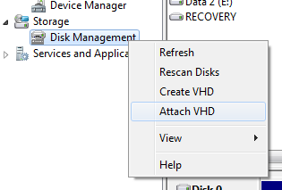 Mount and Browse Hyper-V or vSphere Virtual Disk File