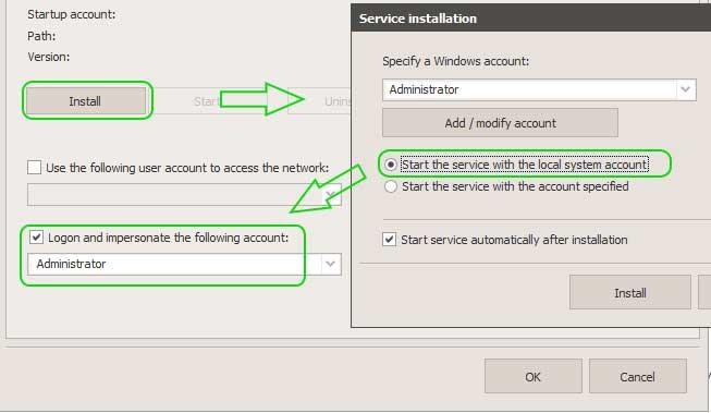 Why the backup runs manually but fails when run automatically?