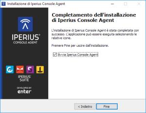 Termine Installazione Iperius Console Agent