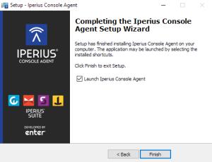 Setup Iperius Console Agent - Ending