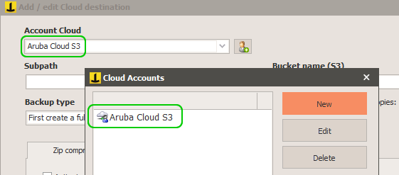 Backup to Cloud Object Storage (S3) Aruba with Iperius Backup