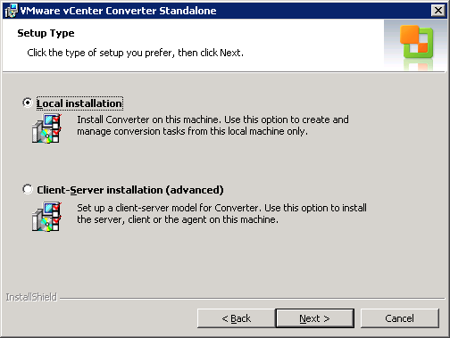 VMware vCenter Converter - Convert physical machines to