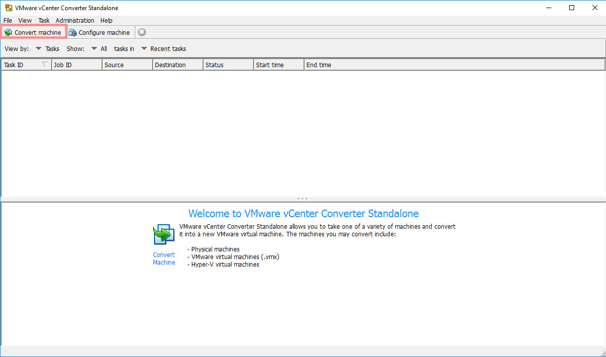 VMware vCenter Converter - Convert physical machines to virtual machines