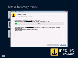Iperius Recovery Environment - Running restore