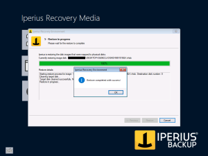 Iperius Recovery Environment - Restore process end