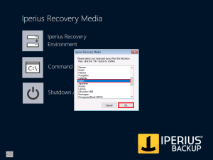 Iperius Recovery Environment - Keyboard Layout