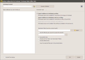 Office 365 - Configuration Window