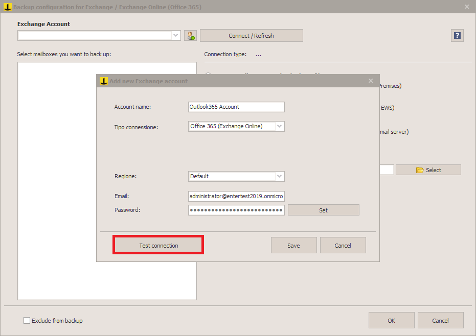 Office 365 Backup: how to export Exchange Online mailboxes with Iperius