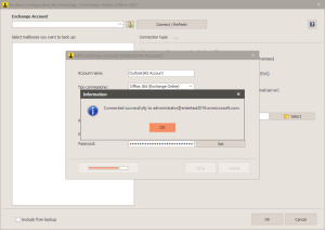 Office 365 - Connection successful