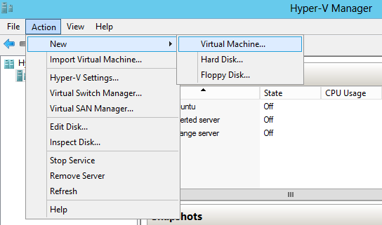 Disk2vhd: convert a physical machine to virtual machine Hyper-V (P2V)