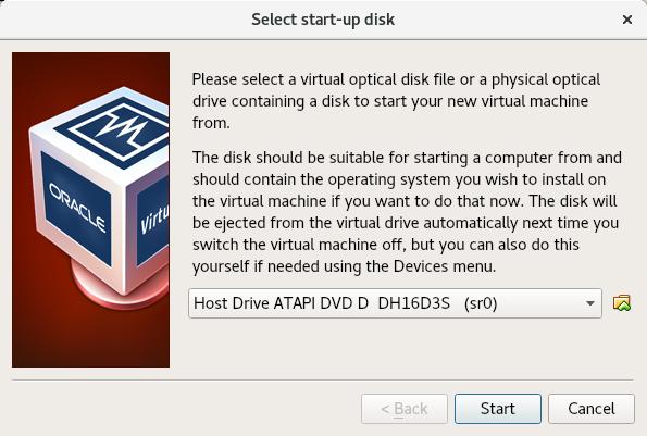 select start-up disk