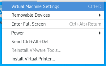 vmware vm settings