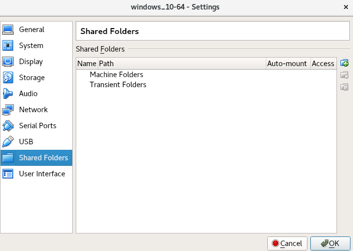 virtualbox shared folders