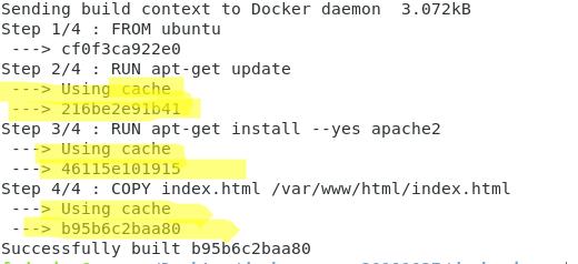 docker image cache
