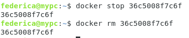 docker stop rm