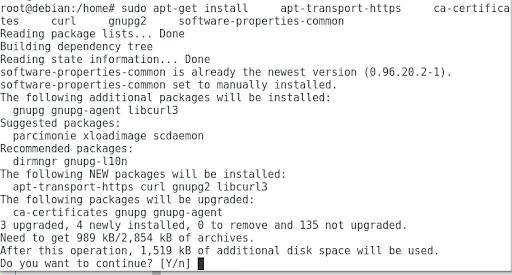 apt-get install