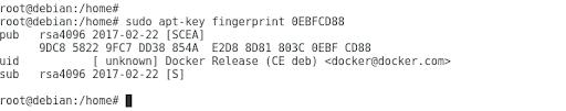 apt-key fingerprint