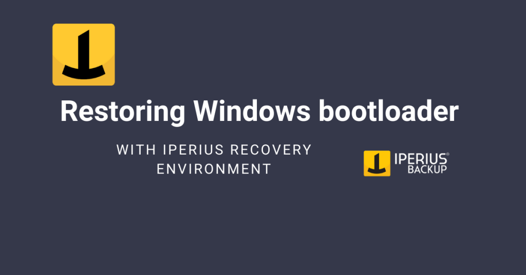 Iperius Recovery Environment