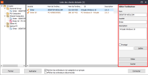 Ipreius Remote - Paramètres Client